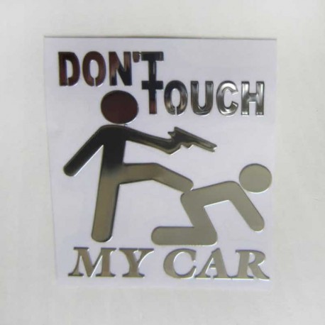 آرم DON'T TOUCH MY CAR برجسته