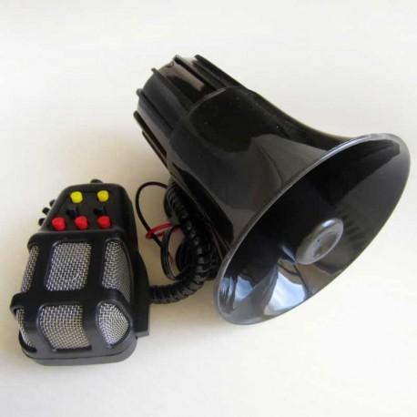 آژیر پلیسی 7 دکمه میکروفون دار