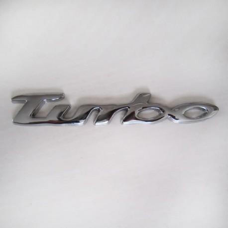 آرم فلزی برجسته طرح استیل Turbo