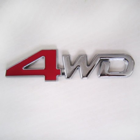 آرم فلزی برجسته طرح استیل 4WD