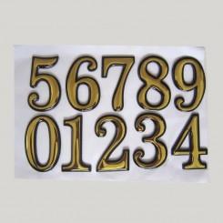برچسب شماره برجسته طلایی اعداد
