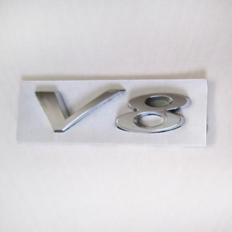 آرم V8 طرح استیل