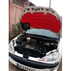 عایق درب موتور رنگی آلومینیوم دار پژو 206 صندوقدار