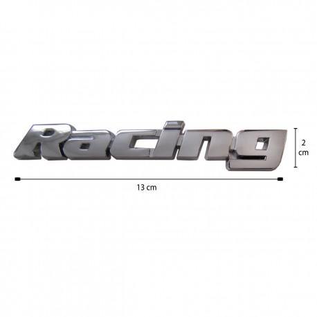 آرم فلزی برجسته Racing