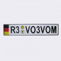 پلاک اسپرت اروپایی R3