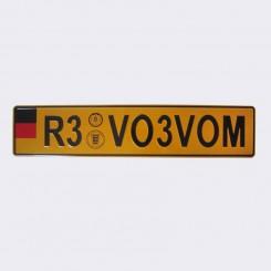 پلاک اسپرت اروپایی R3 زرد
