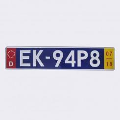 پلاک اسپرت اروپایی EK