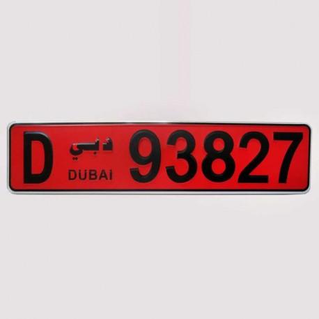 پلاک اسپرت دبی قرمز (جدید)