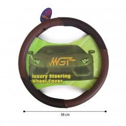 روکش فرمان MGT حلقه ای قهوه ای مشکی کد 1030