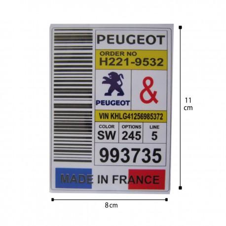 برچسب لچکی پژو طرح پرچم فرانسه نوین