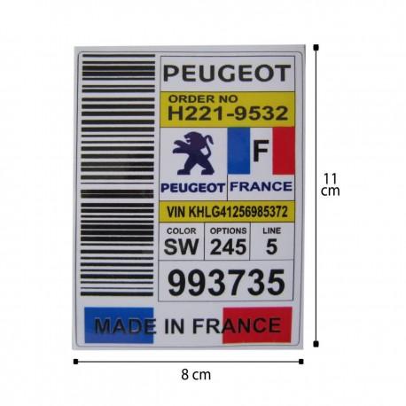 برچسب لچکی پژو طرح پرچم فرانسه جدید