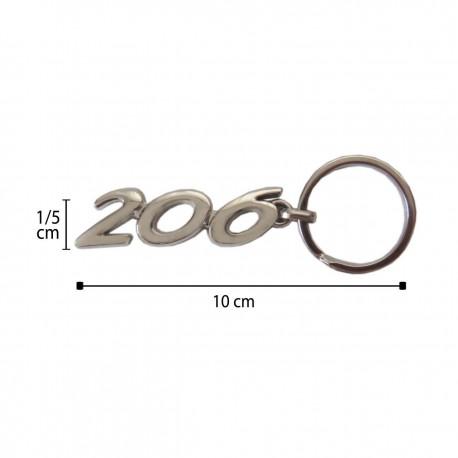 سر کلیدی نقره ای 206