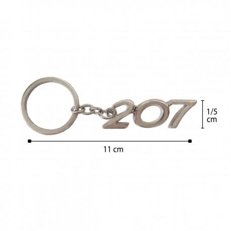 سر کلیدی نقره ای طرح 207