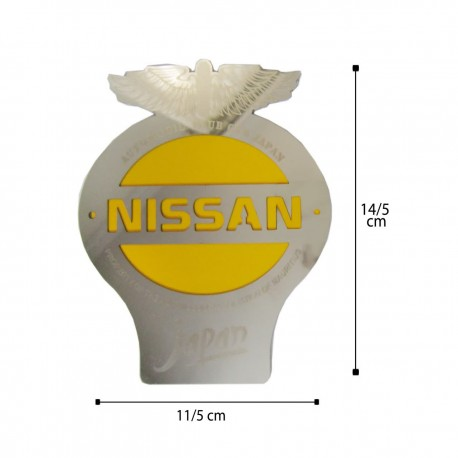 آرم جلو پنجره NISSAN کد 1114 زرد