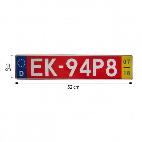 پلاک اسپرت اروپایی EK قرمز