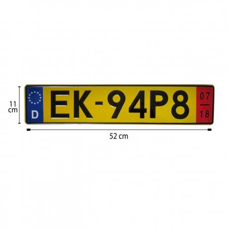 پلاک اسپرت اروپایی EK زرد