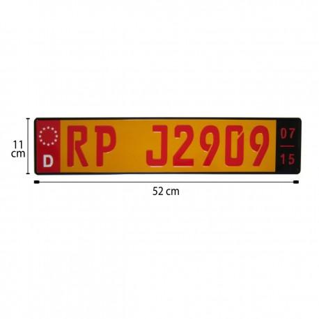 پلاک اسپرت اروپایی RP