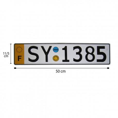 پلاک اسپرت SY1385 زرد