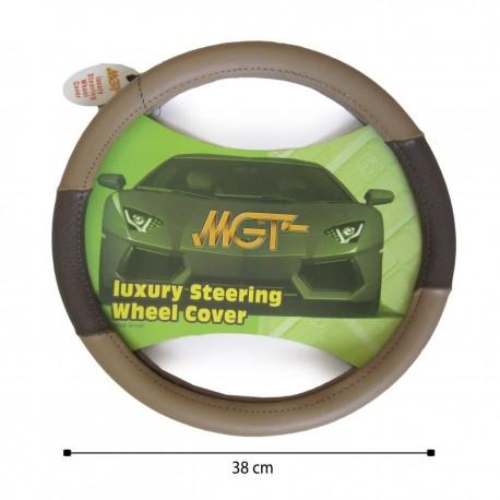 روکش فرمان MGT حلقه ای کرم قهوه ای کد 3004