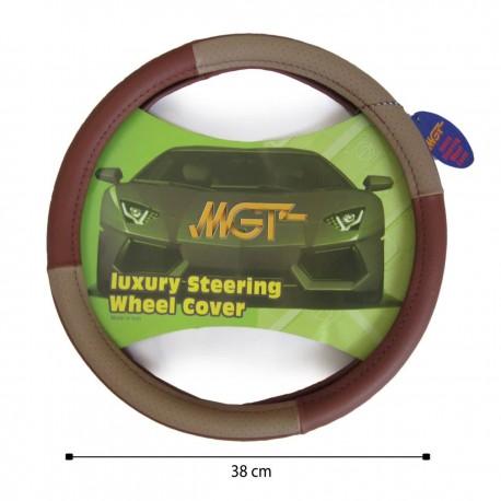 روکش فرمان MGT حلقه ای کرم قهوه ای کد 3003