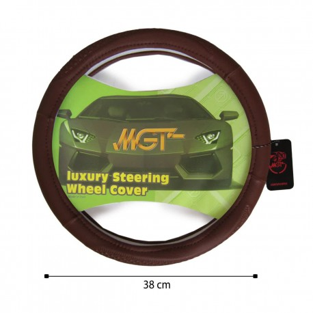 روکش فرمان MGT حلقه ای قهوه ای روشن کد 5056