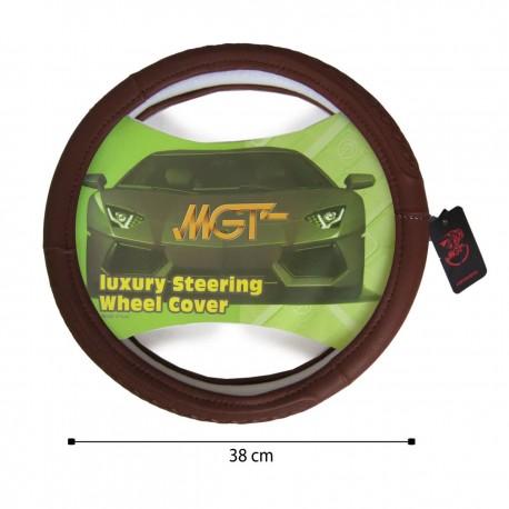 روکش فرمان MGT حلقه ای قهوه ای روشن کد 5057