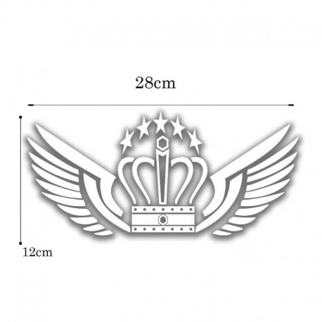 برچسب خودرو طرح تاج کد TTNN KH11