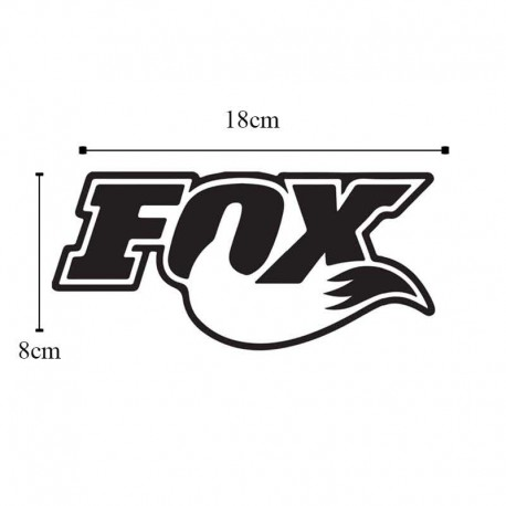 برچسب خودرو طرح FOX کد B101