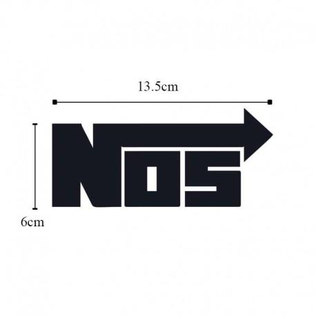 برچسب خودرو طرح NOS کد B102