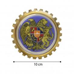 آرم کنگره ای فلزی جلو پنجره طلایی کد 100