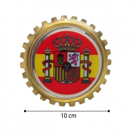 آرم کنگره ای فلزی جلو پنجره طلایی کد 101