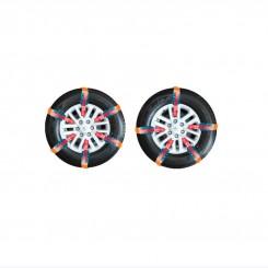 زنجیر چرخ قرمز 10 تایی سایز 16-17 - نانو پلیمر یخران رایا
