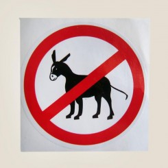 برچسب ورود الاغ ممنوع