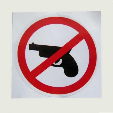برچسب همراه داشتن سلاح گرم ممنوع