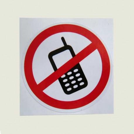 برچسب استفاده از گوشی همراه ممنوع